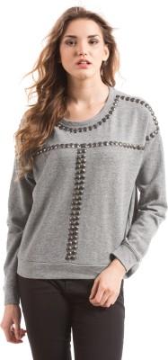 Shuffle Full Sleeve Self Design Women's Sweatshirt