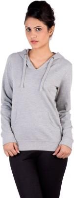 De Moza Full Sleeve Solid Women's Sweatshirt