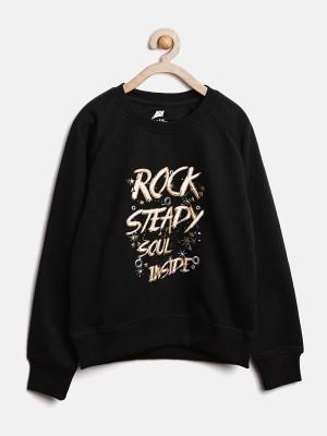 YK Full Sleeve Printed Girl's Sweatshirt