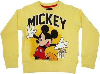 Mickey & Friends Full Sleeve Printed Boy's Sweatshirt