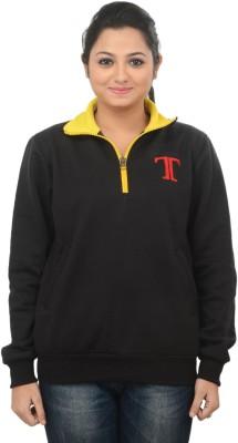 TeesTadka Full Sleeve Solid Women's Sweatshirt
