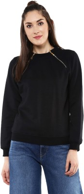 Sassafras Full Sleeve Solid Women's Sweatshirt at flipkart