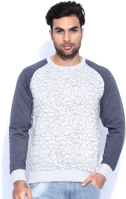 HRX by Hrithik Roshan Full Sleeve Self Design Men's Sweatshirt