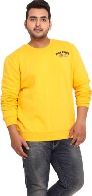 John Pride Full Sleeve Solid Men's Sweatshirt