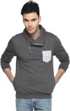 Campus Sutra Full Sleeve Solid Men's Swe...