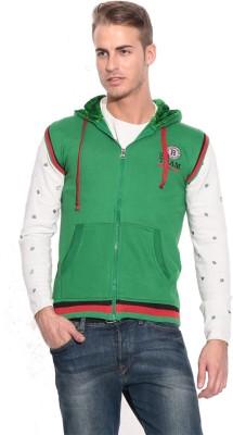 American-Elm Sleeveless Self Design Men's Sweatshirt