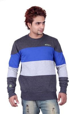 Absurd Full Sleeve Striped Men's Sweatshirt