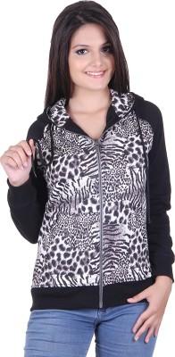 Belly Bottom Full Sleeve Animal Print Women's Sweatshirt