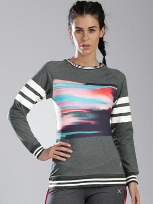 HRX by Hrithik Roshan Full Sleeve Printed Womens Sweatshirt