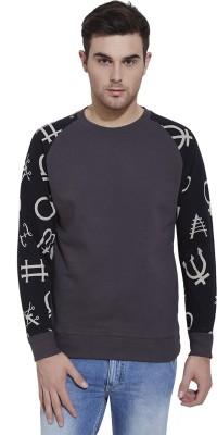Slub By INMARK Full Sleeve Self Design Men's Sweatshirt