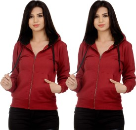 Christy World Full Sleeve Solid Women's Sweatshirt