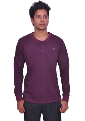 LEAF Full Sleeve Solid Mens Sweatshirt