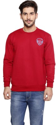 skora Full Sleeve Solid Men,s Sweatshirt