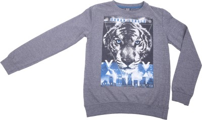 Desi Duos Full Sleeve Animal Print Boy's Sweatshirt