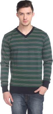 CLUB YORK Full Sleeve Striped Men,s Sweatshirt