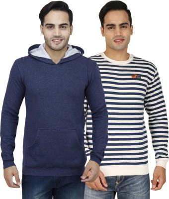 PRO Lapes Full Sleeve Striped Men's Sweatshirt