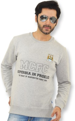 Manchester City FC Full Sleeve Embroidered Men's Sweatshirt