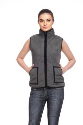 Cashewnut Sleeveless Solid Women's Sweatshirt