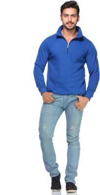 Demokrazy Full Sleeve Solid Men's Sweatshirt