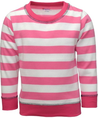 Pepito Full Sleeve Striped Girl's Sweatshirt