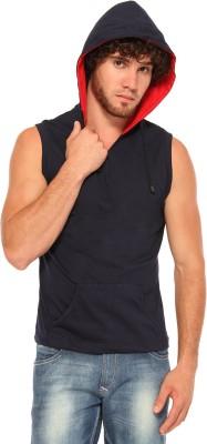 Pepperclub Sleeveless Solid Men's Sweatshirt