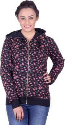 Belly Bottom Full Sleeve Floral Print Women's Sweatshirt