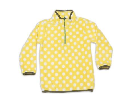 Nino Bambino Full Sleeve Polka Print Girl's Sweatshirt