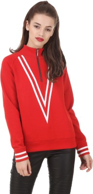 Texco Full Sleeve Solid Women's Sweatshirt at flipkart