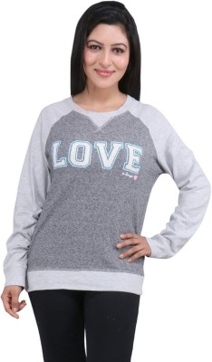 LondonHouze Half Sleeve Printed Women's Sweatshirt