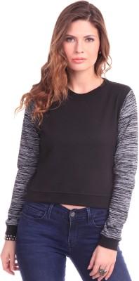 Sassafras Full Sleeve Self Design Women's Sweatshirt
