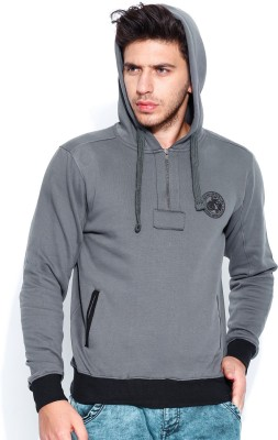 Roadster Full Sleeve Solid Men's Reversible Sweatshirt