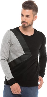 Shuffle Full Sleeve Solid Men's Sweatshirt
