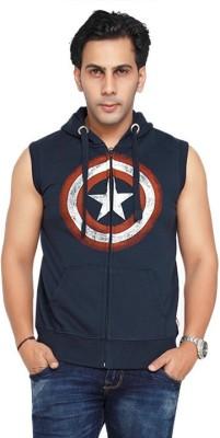 Planet Superheroes Sleeveless Printed Men's Sweatshirt