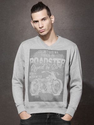 Roadster Full Sleeve Printed Men's Sweatshirt