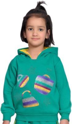 Shaun Full Sleeve Printed Baby Girls Sweatshirt