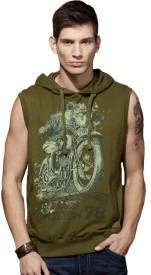Roadster Sleeveless Printed Men's Sweatshirt