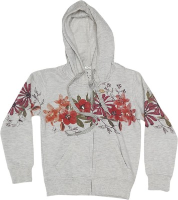 Elle Full Sleeve Floral Print Girl's Sweatshirt