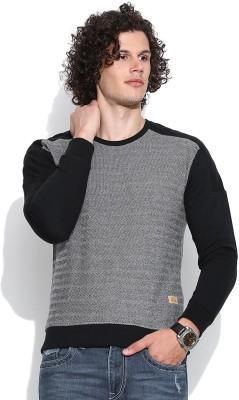 United Colors of Benetton Full Sleeve Self Design Men's Sweatshirt