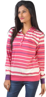 No code Full Sleeve Striped Women's Sweatshirt