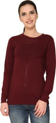 Alibi By Inmark Full Sleeve Solid Women's Sweatshirt