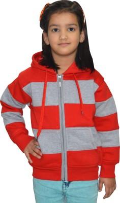 Shaun Full Sleeve Solid Girls Sweatshirt