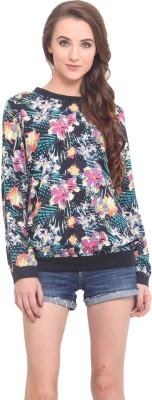 Instacrush Full Sleeve Floral Print Women's Sweatshirt