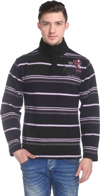 CLUB YORK Full Sleeve Striped Men's Sweatshirt