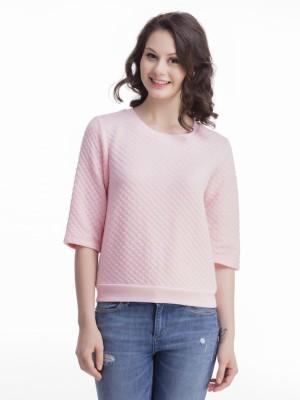 Femella 3/4 Sleeve Solid Women's Sweatshirt