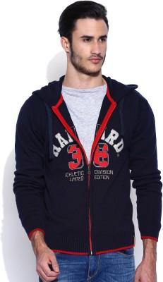 Harvard Full Sleeve Self Design Men's Sweatshirt