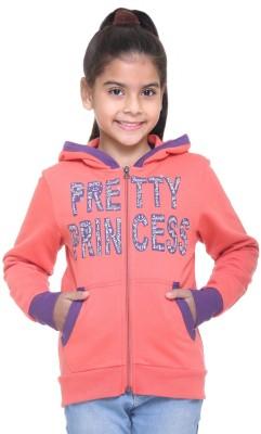 Kids-17 Full Sleeve Solid Girl's Sweatshirt