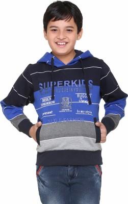 Superkids Full Sleeve Striped Boy's Sweatshirt