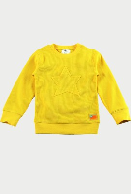 Cherry Crumble California Round Neck Solid Boy's Pullover