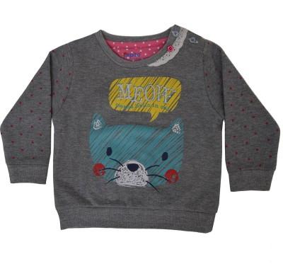 Pepito Full Sleeve Printed Baby Girl's Sweatshirt