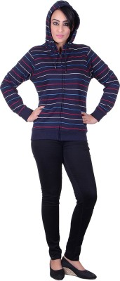 Melzo Full Sleeve Striped Women's Sweatshirt